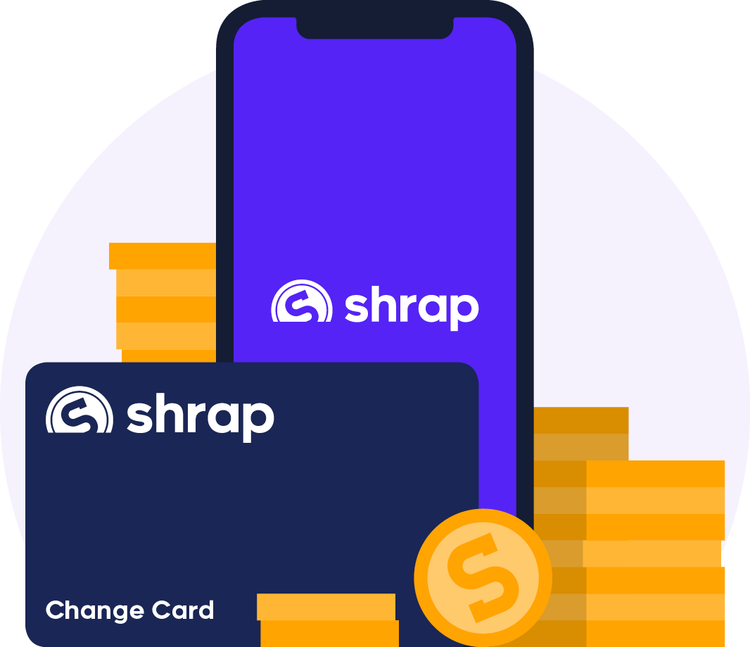 Shrap for everyone   Convert change into digital currency