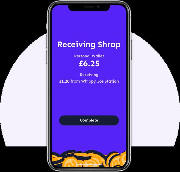 Use Shrap as a virtual coin jar