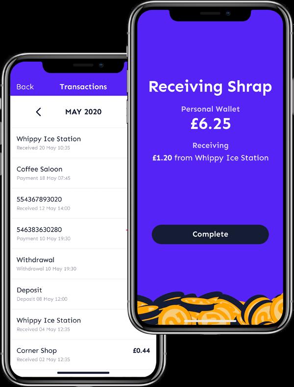 Shrap is your digital coin jar